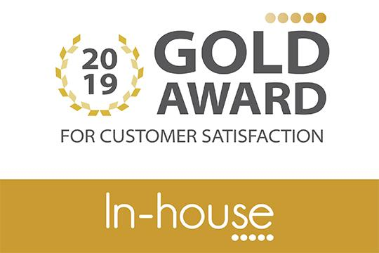 Gold Award 2019 customer satisfaction